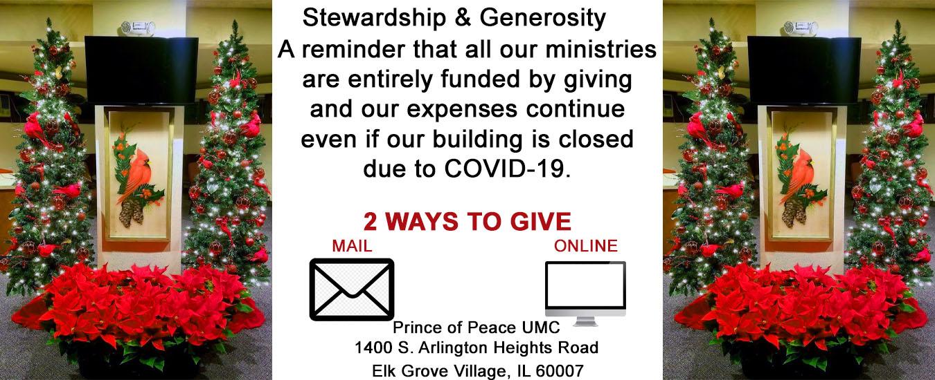 Stewardship Generosity 2020 Banner